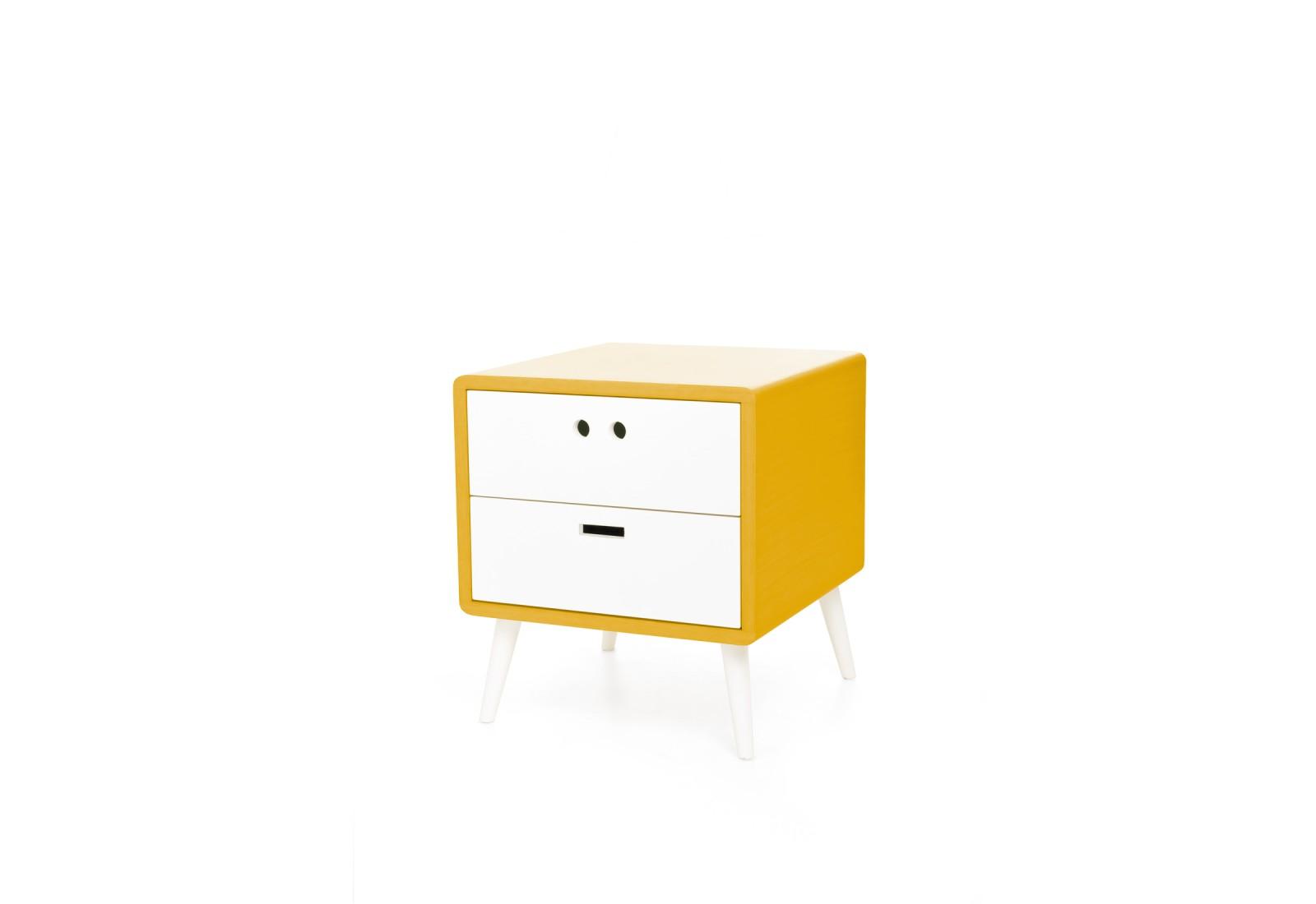 Mário Bedside Table Dry yellow
