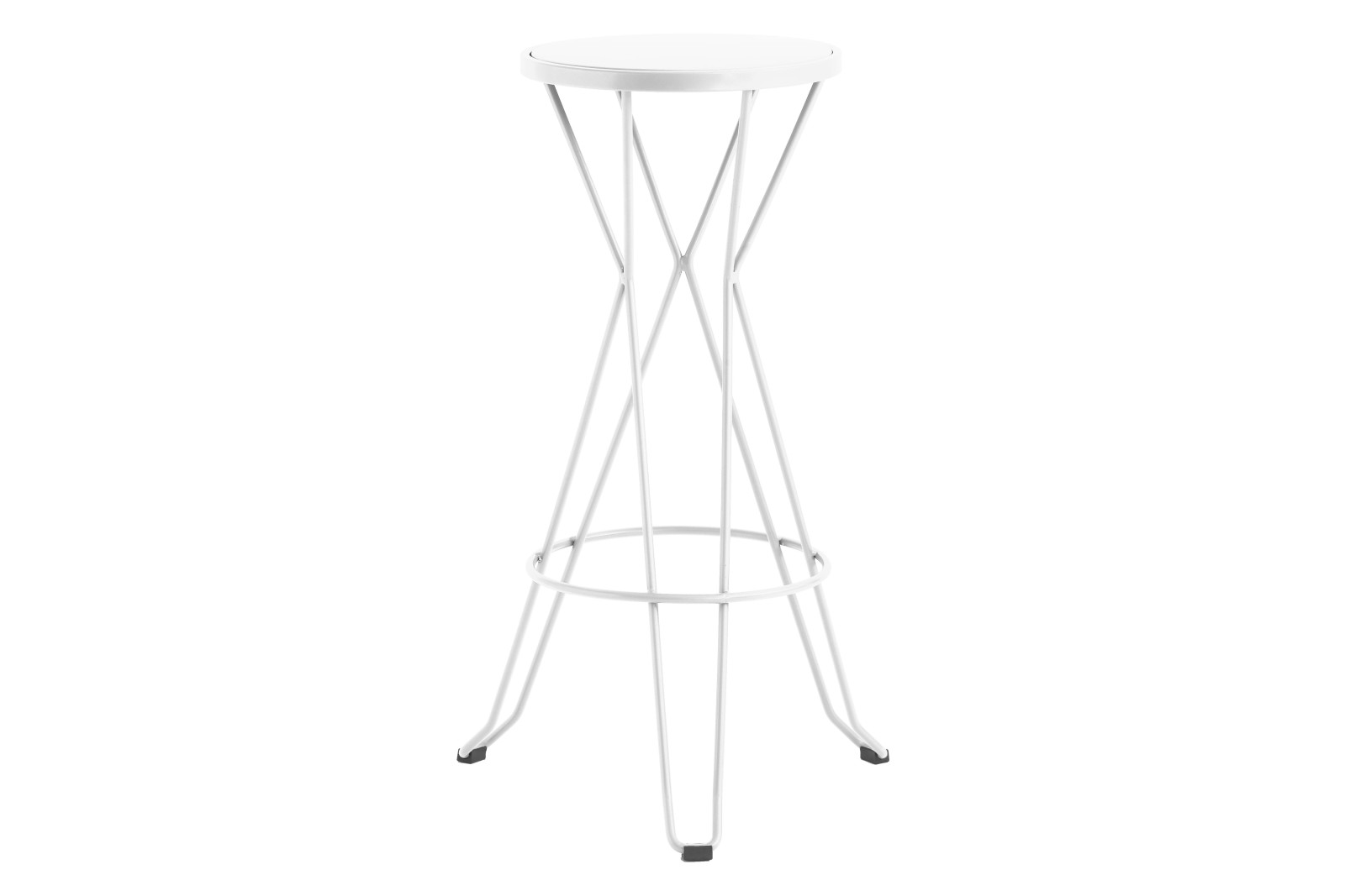 Madrid Bar Stool Set of 3 76, RAL 9016 Ibiza White