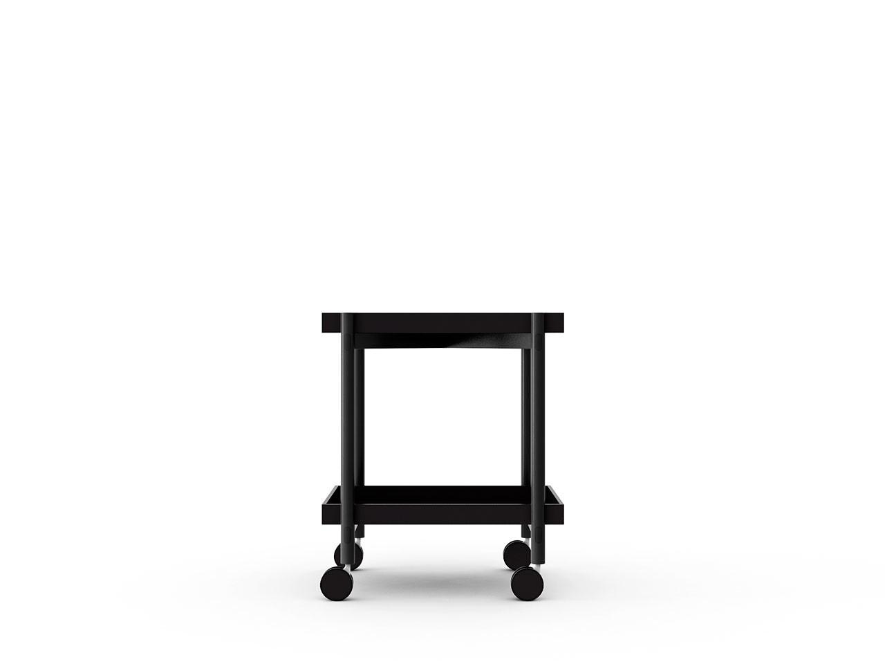 Mai Tai Trolley Black Texturised Lacquered, Ebony Stained Oak