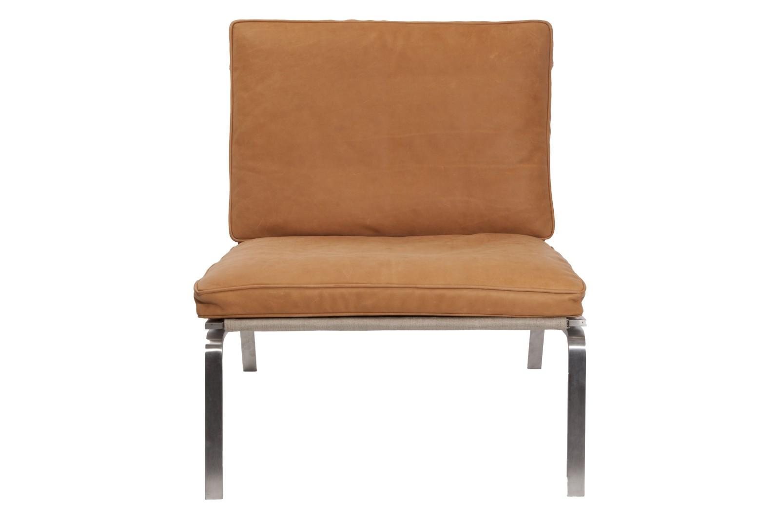 Man Lounge Chair Cognac Brown Premium Leather