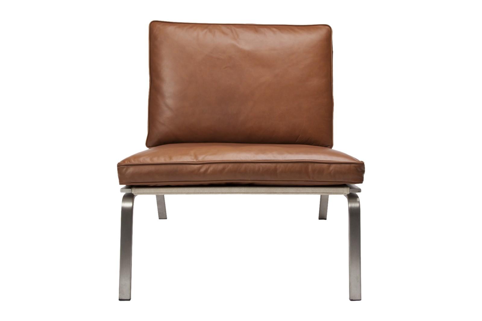 Man Lounge Chair Cognac Vintage Leather