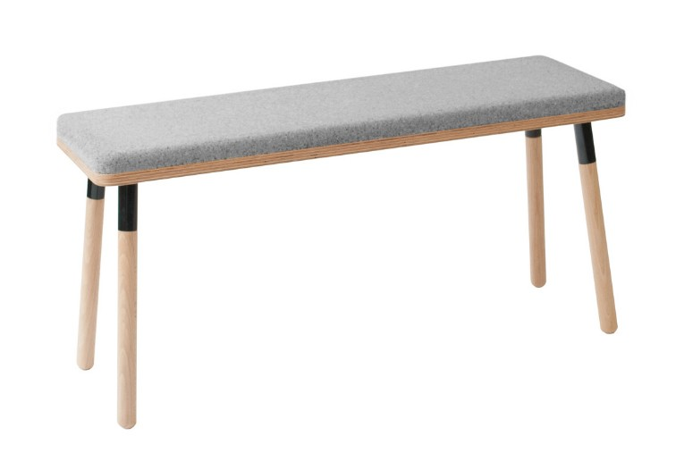Marco Bench Marco Bench Black + Wool Upholstery