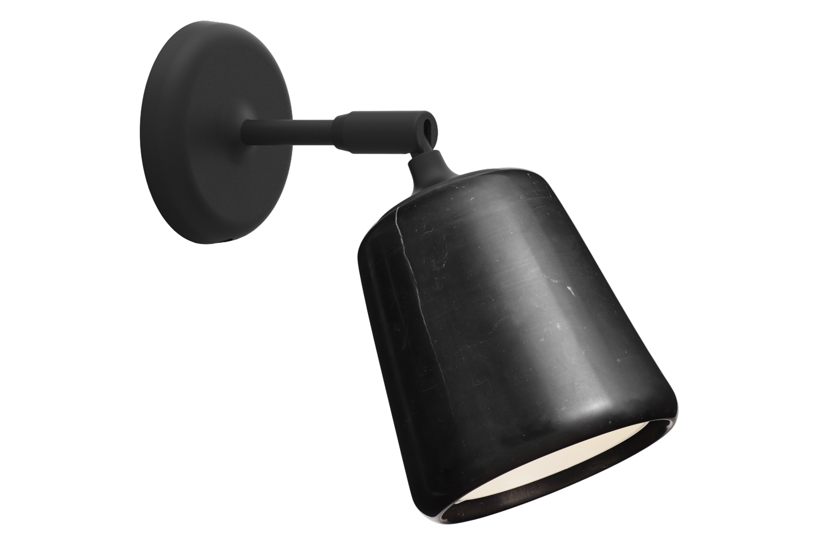 Material Wall Lamp Black Marble