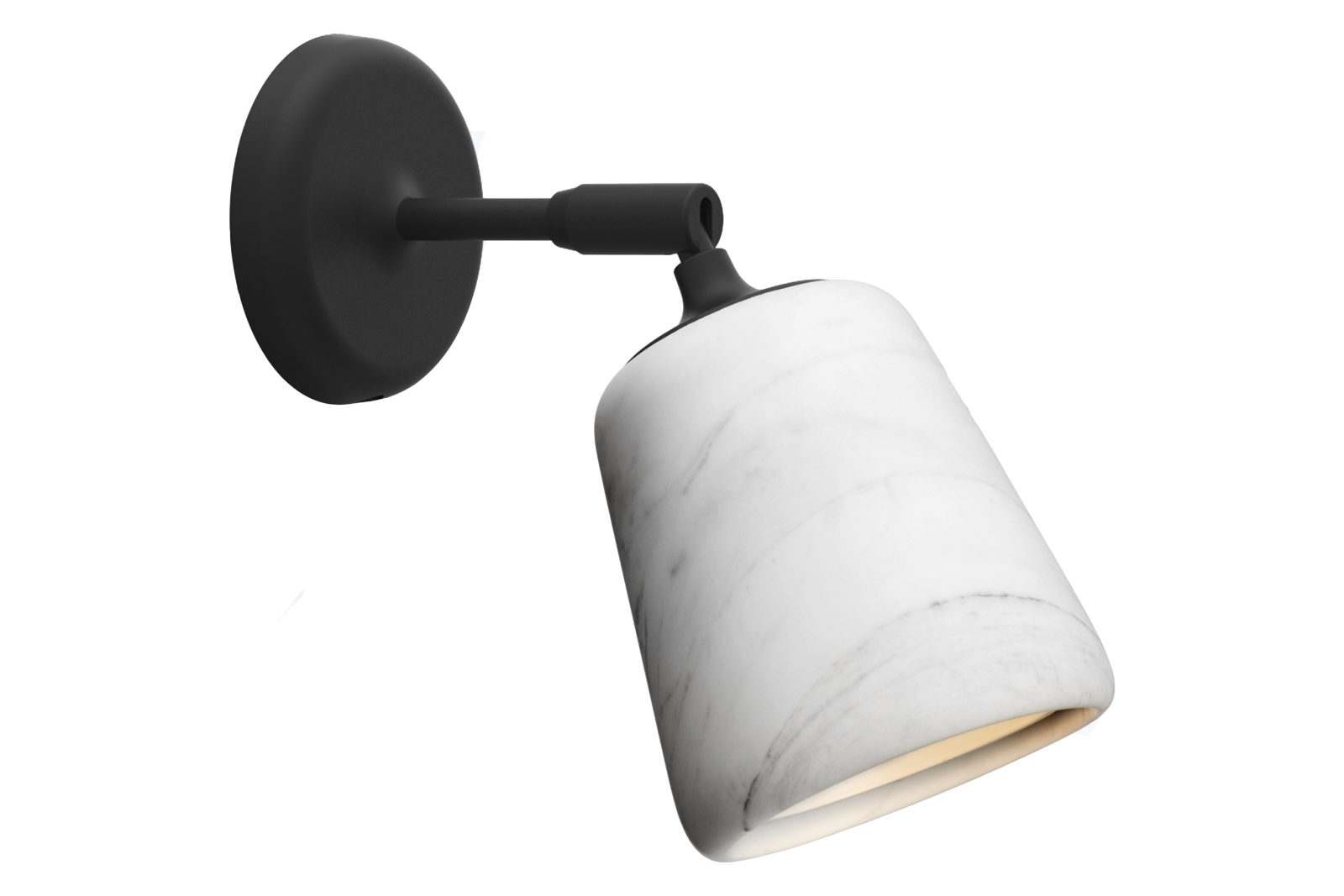 Material Wall Lamp White Marble