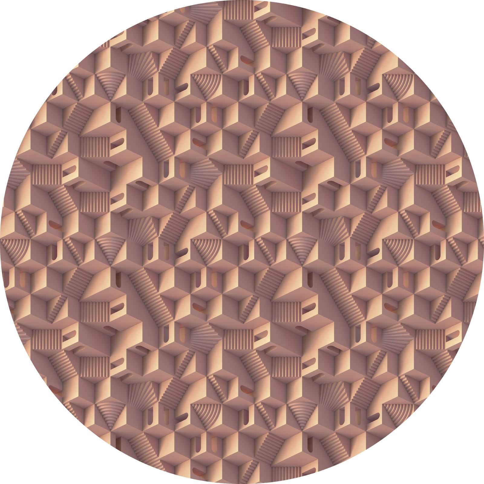 Maze Round Carpet Miami, Ø 250cm, Polyamide