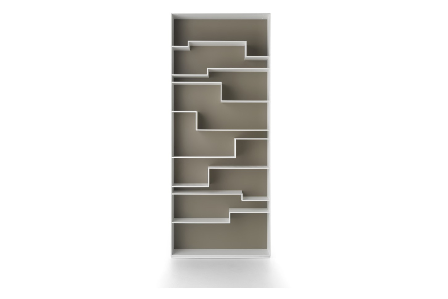 Melody Bookshelf, Contrast Back White Frame & Dove Grey Back