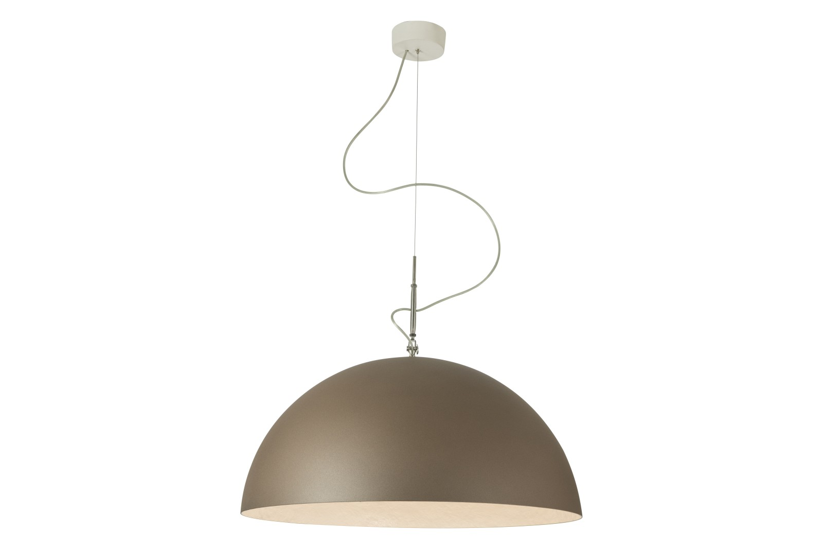 Mezza Luna Bronze Pendant Light White, 120cm