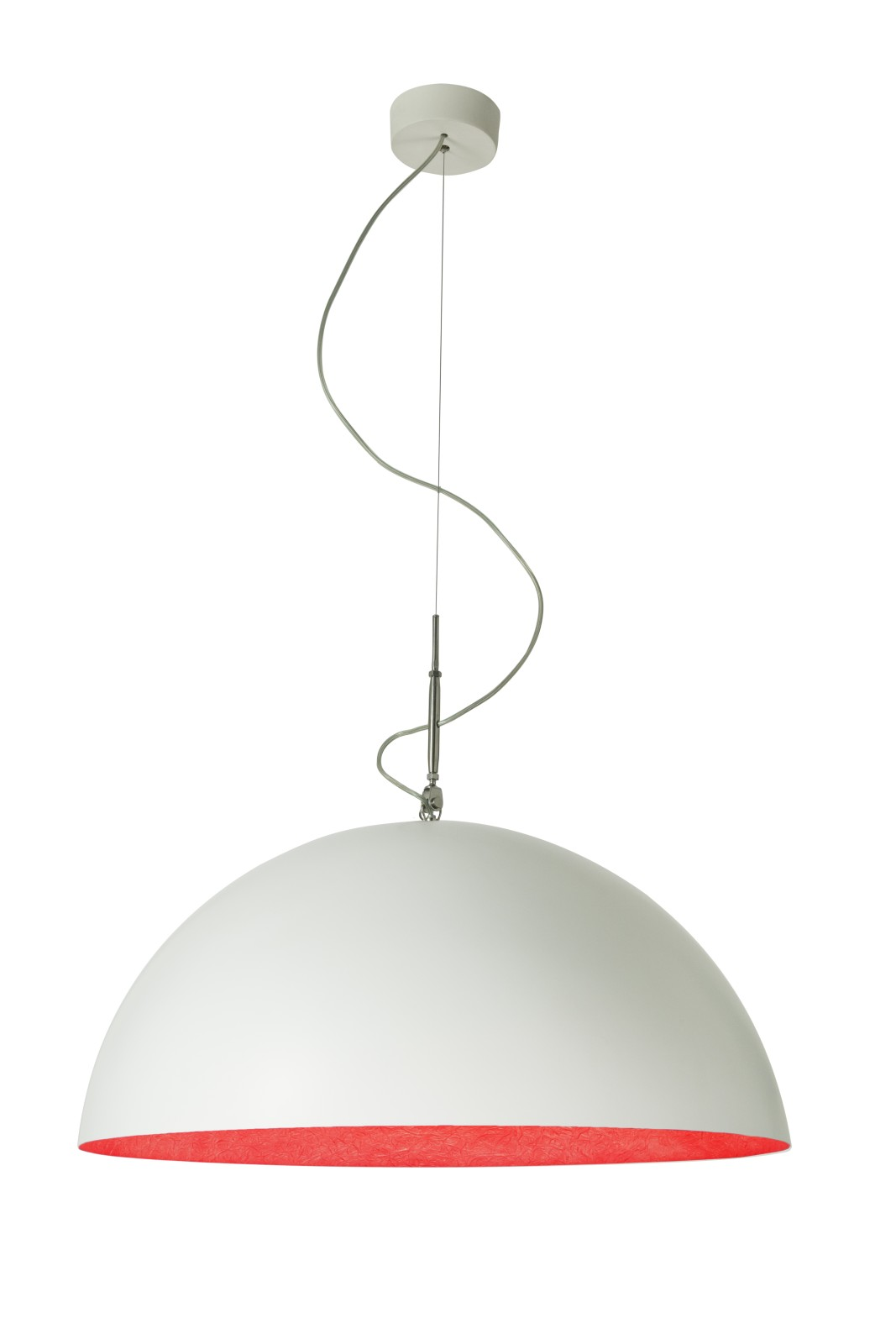 Mezza Luna Pendant Light White, Red, 70cm