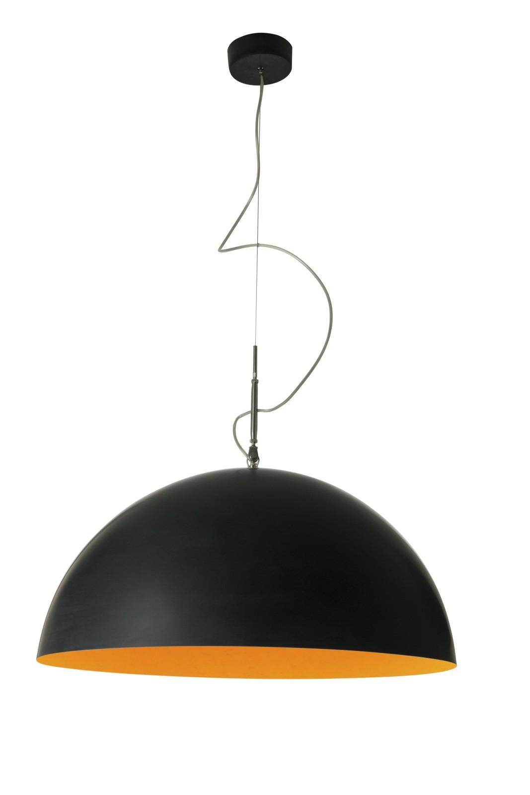 Mezza Luna Pendant Light Black, Orange, 120cm