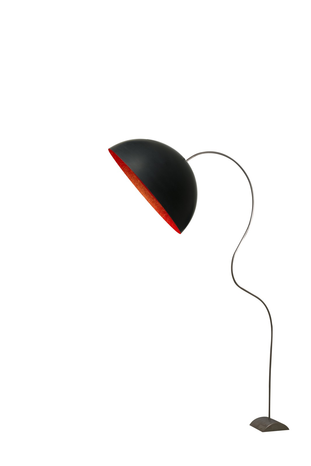 Mezza Luna Piantana Floor Lamp Black, Red