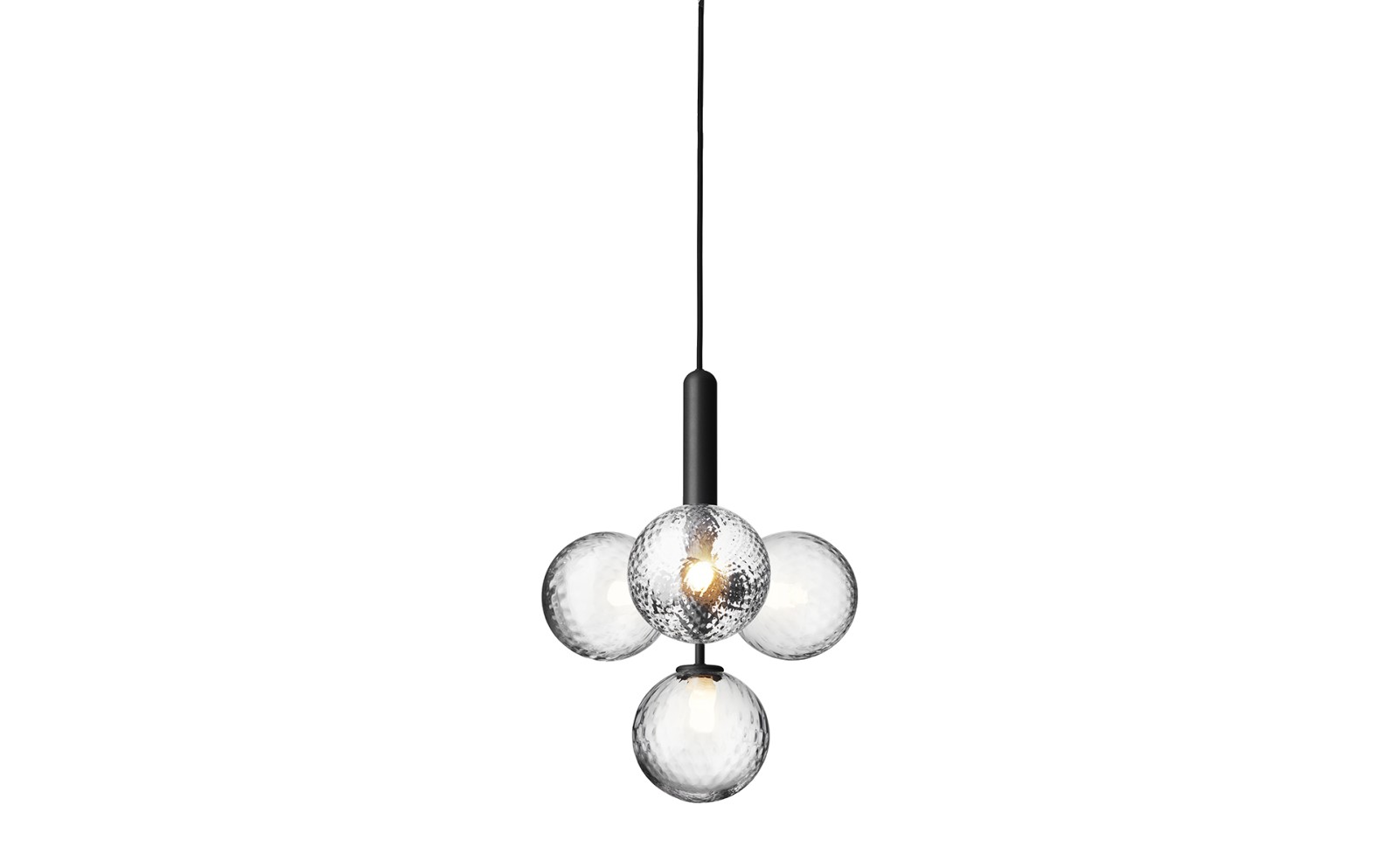 Miira 4 Pendant Light Rock Grey/ Optic Clear