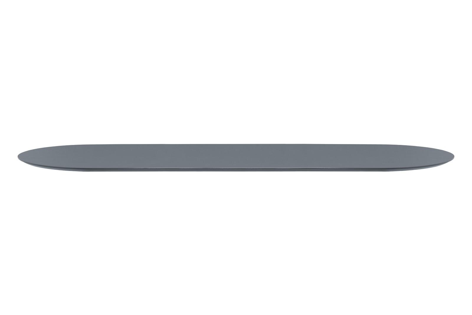 Mingle Oval Table Top Dusty Blue Linoleum, 90 x 220cm