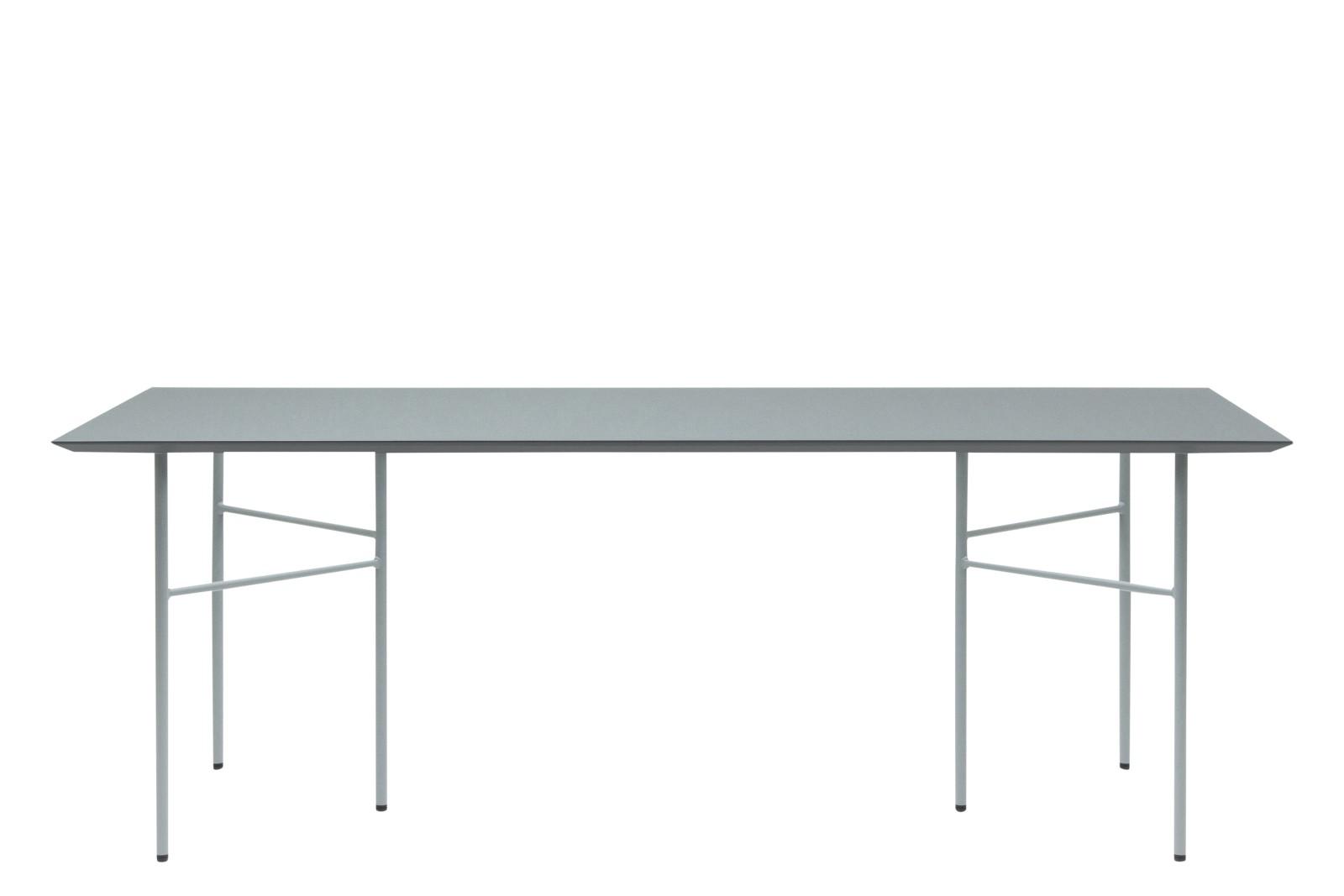 Mingle Rectangular Dining Table Dusty Blue, Metal Dusty Blue, 90 x 210cm