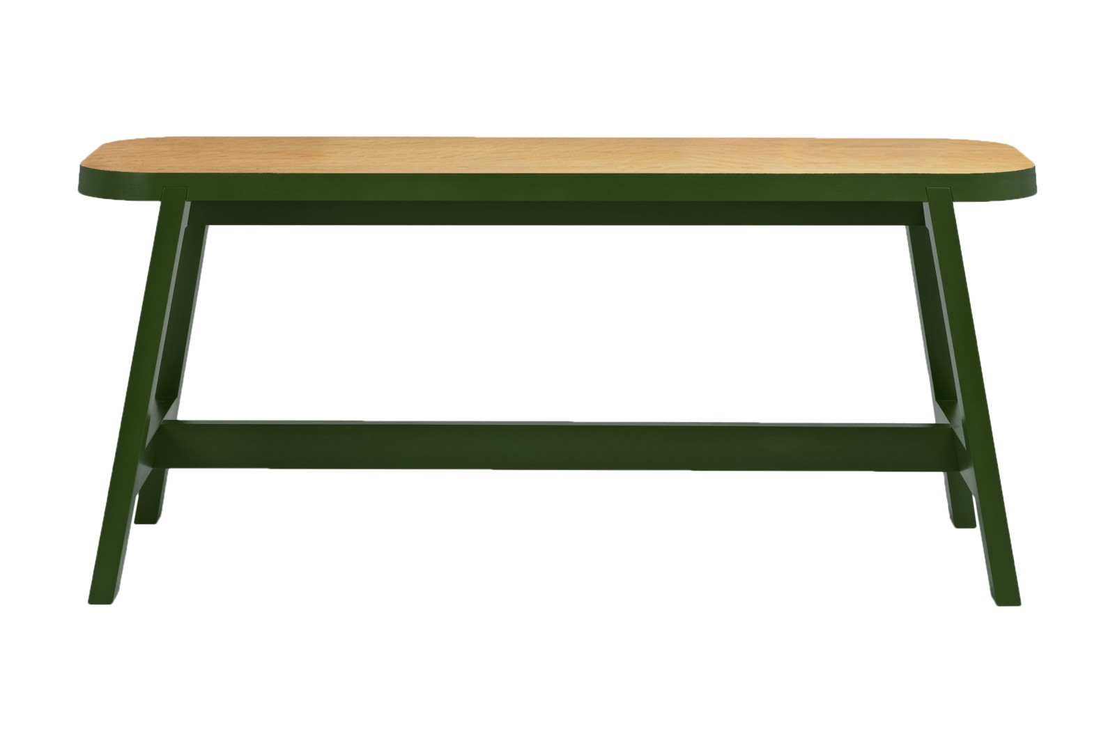 Mini Bench Three Green, Beech