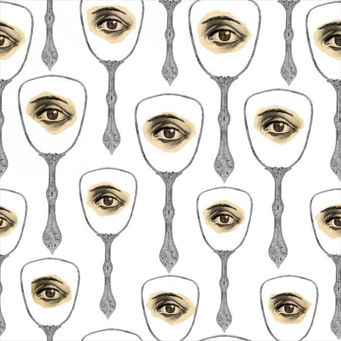 Mirror's Eye Neutral Wallpaper