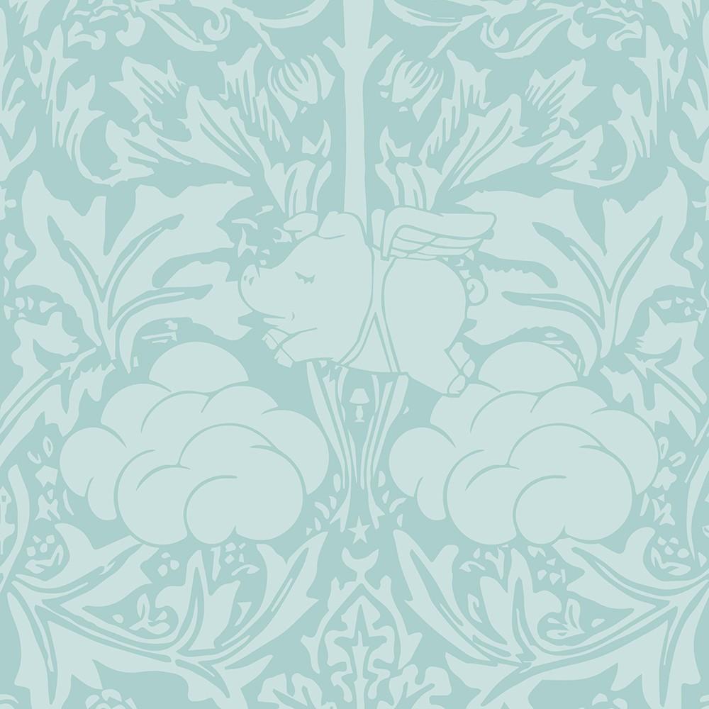 Morris Dream Wallpaper Minty Egg Blue Morris Dream Wallpaper