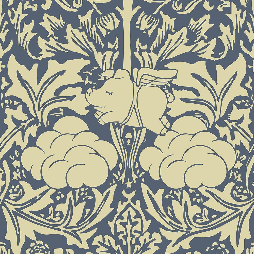 Morris Dream Wallpaper Cream and Blue Morris Dream Wallpaper