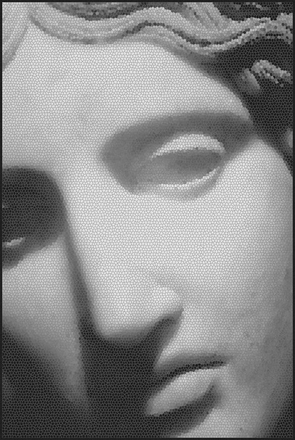 Mosaic Statue Rug Mosaic Statue 1