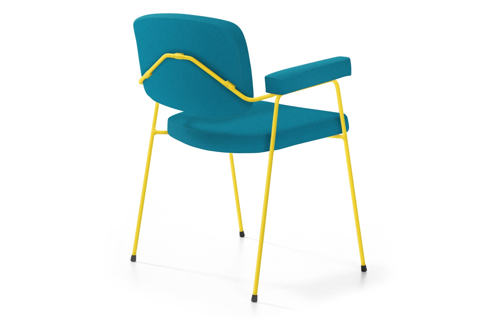 Moulin 4-Legged Steel Base Chair with Arms Divina, Powder Coat Finish