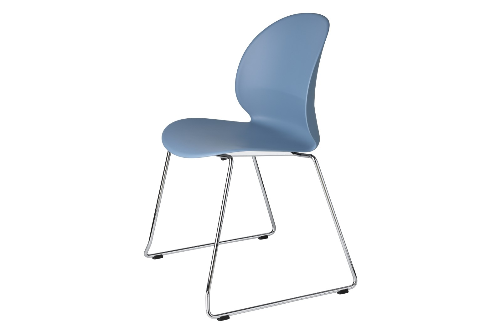 N02 Recycle Chair - Sled Base sled, light blue
