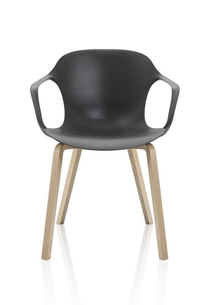 Nap armchair - wooden legs Pepper Grey