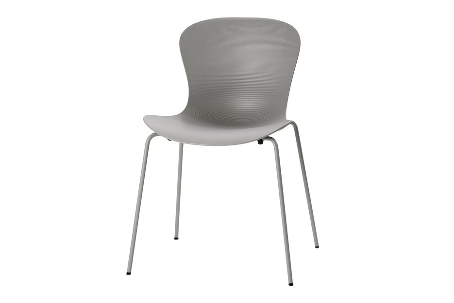 Nap Stackable Chair Nap Silver Grey, Chromed Steel