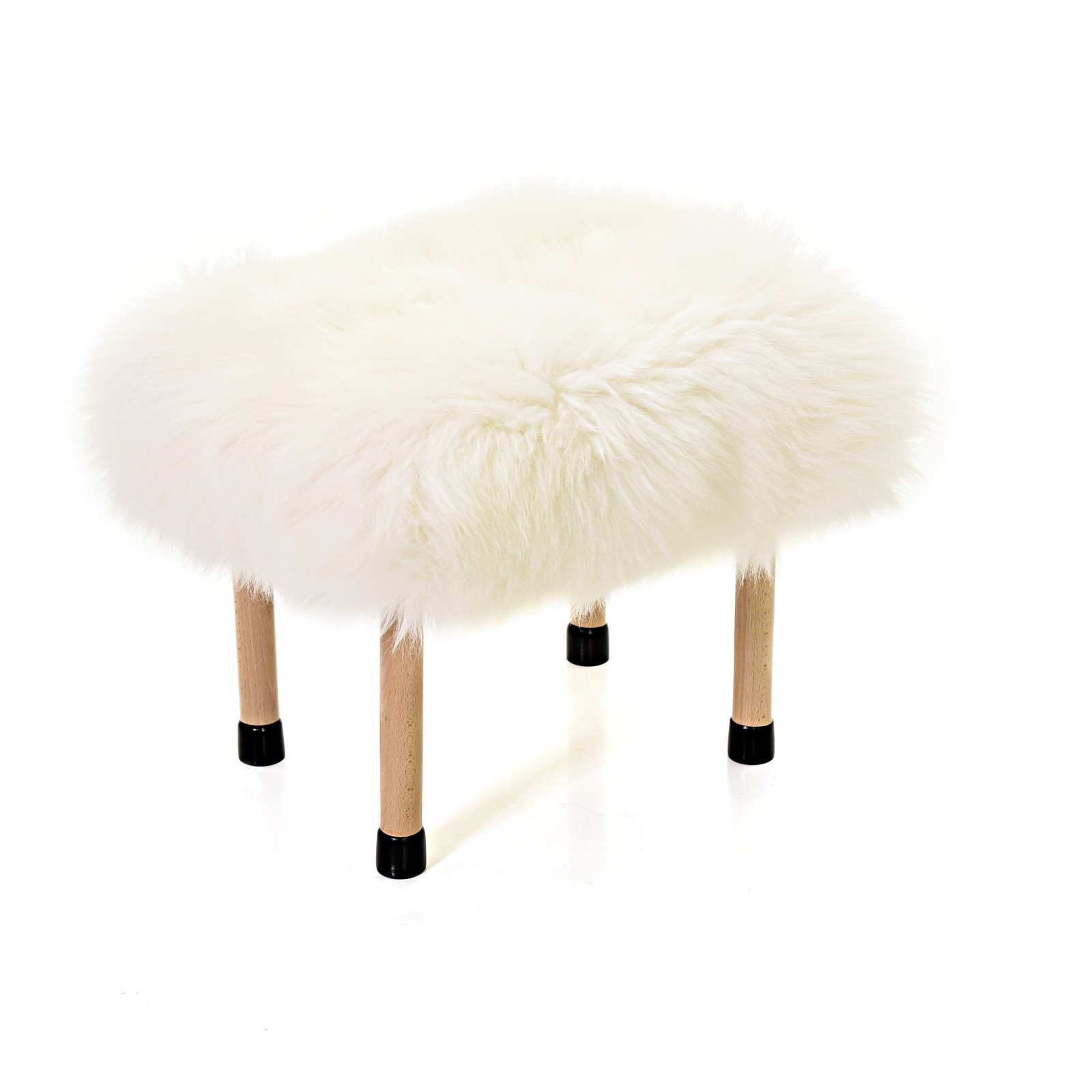 Nerys - Sheepskin Footstool Ivory