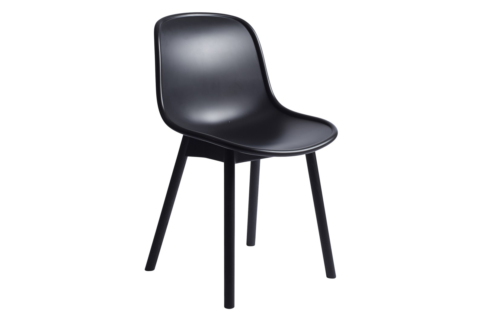 Neu 13 Dining Chair Plastic Soft Black, Wood Soft Black Oak