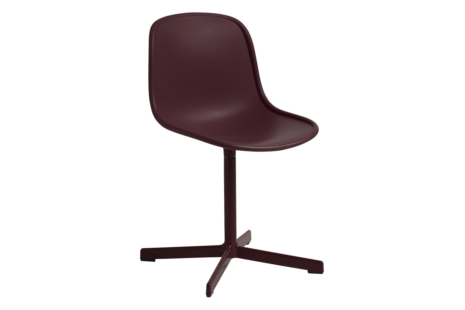 Neu 10 Meeting Chair Plastic Bordeaux / Metal Bordeaux