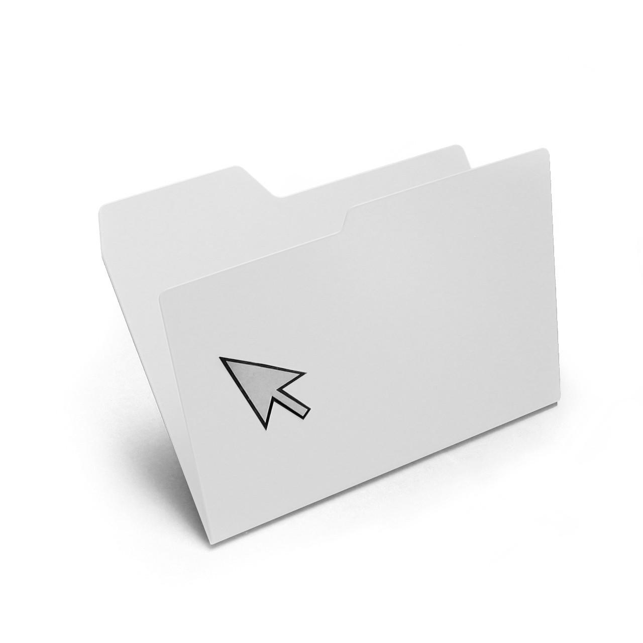 New Folder Magazine Rack White, Standard