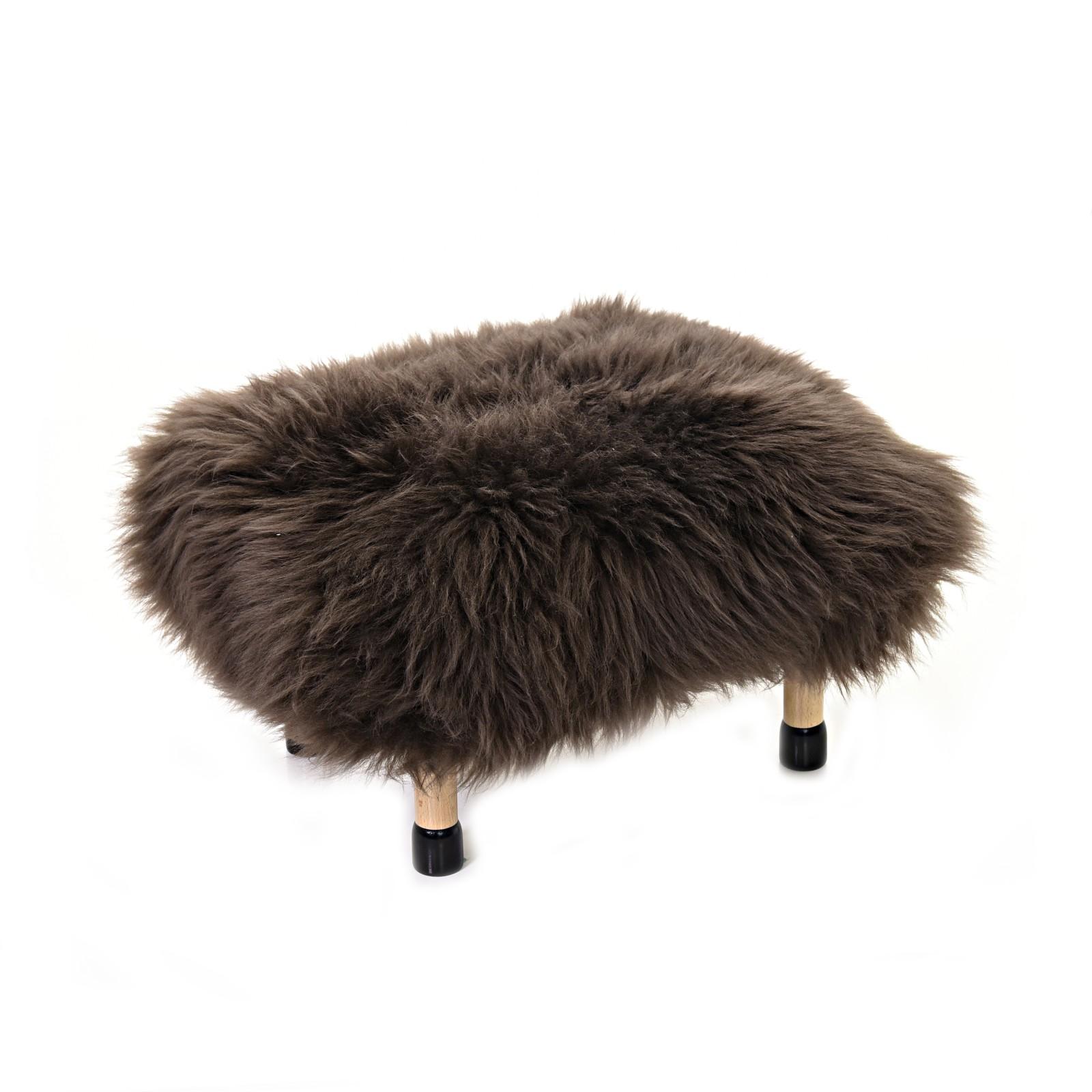 Nia - Sheepskin Footstool Mink