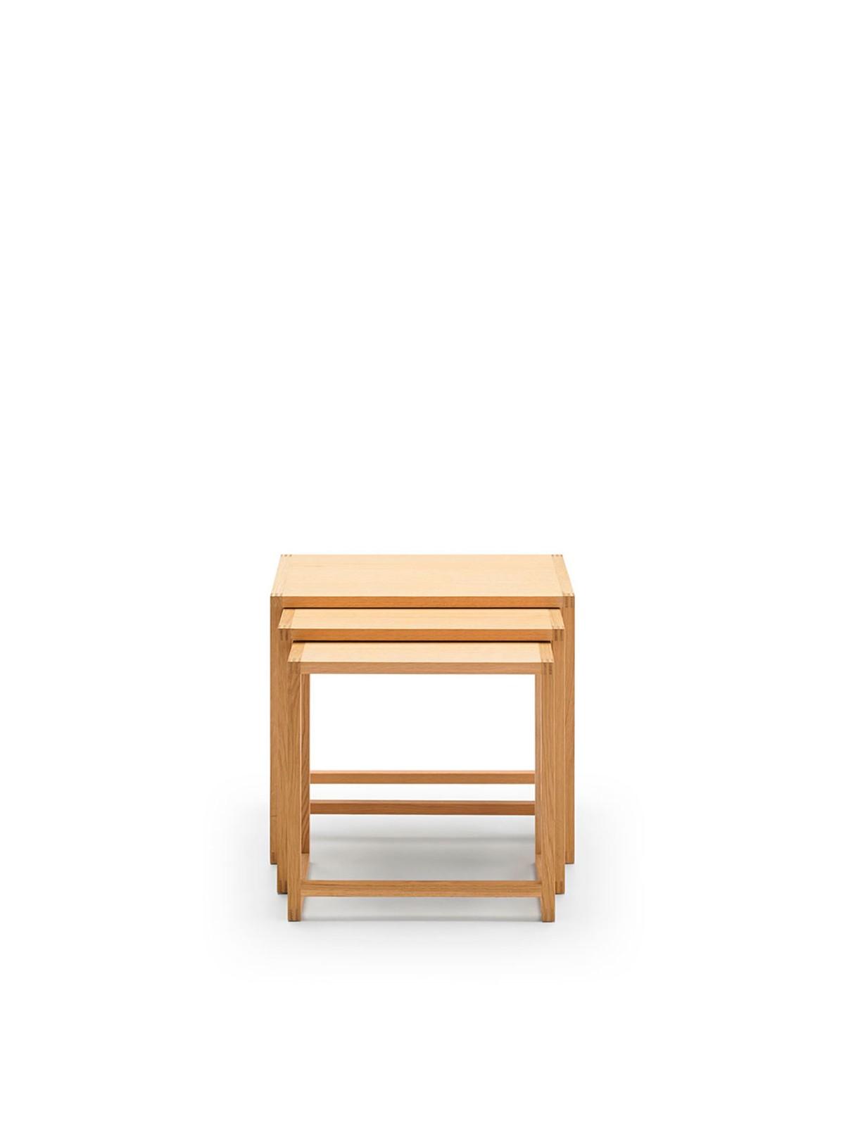 Nido Tables, Set of 3 Super-Matt Oak