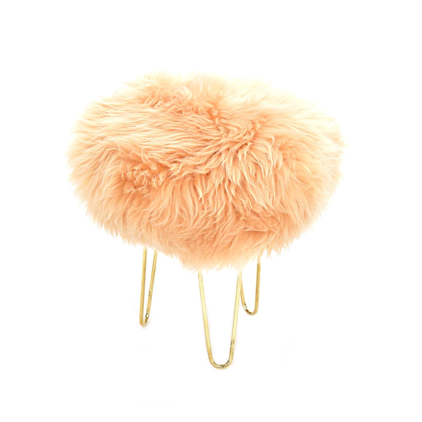 Nina - Sheepskin Footstool Buttermilk