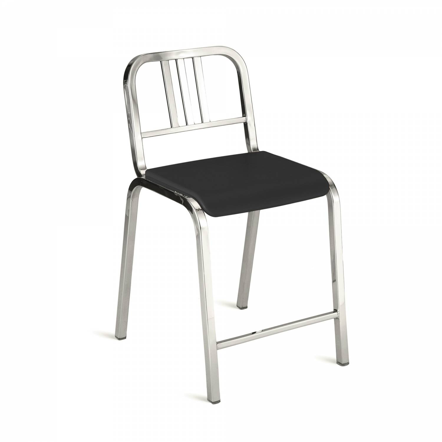 Nine-O Counter Stool Gray, Polished, Bar Back