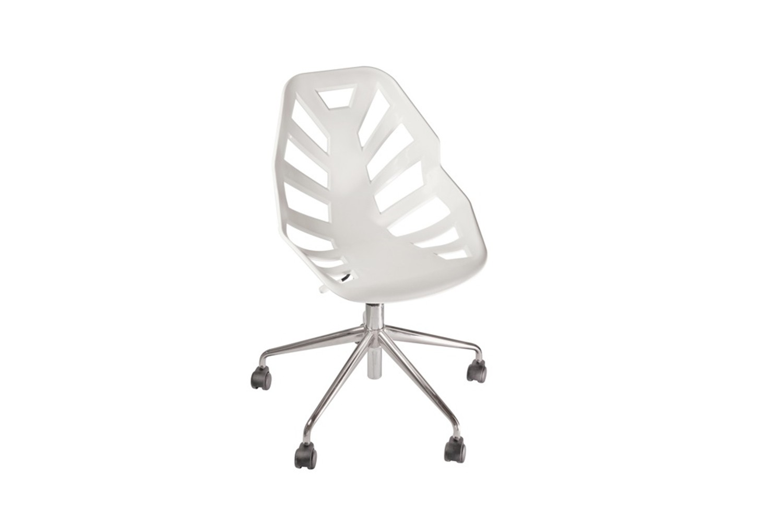 Ninja 5R Swivel Chair with Castors Set of 4 00 White