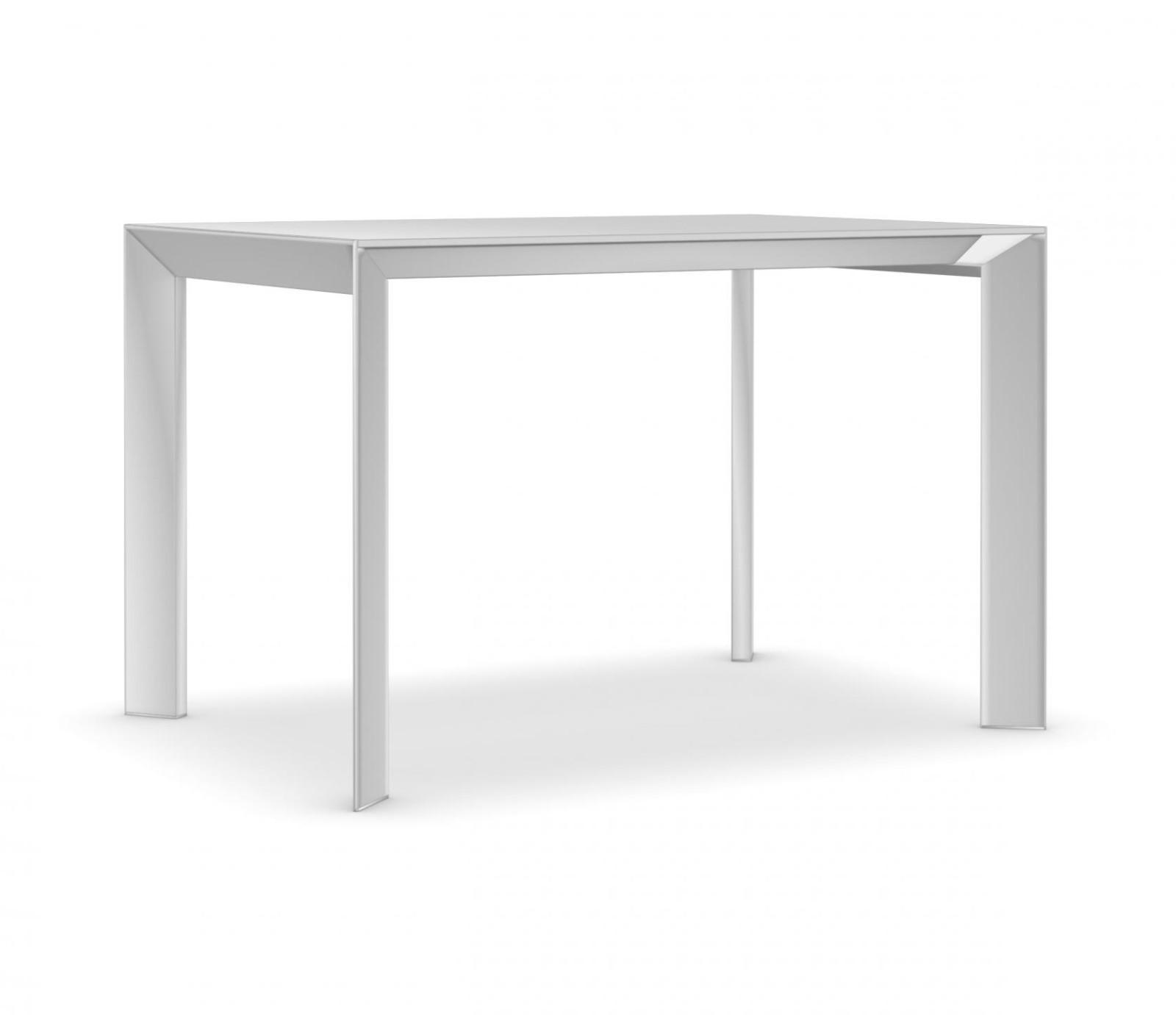 Nori glass Fixed - Depth 80 cm 209 cm, Anodised Aluminium, Gloss glass: Extra White