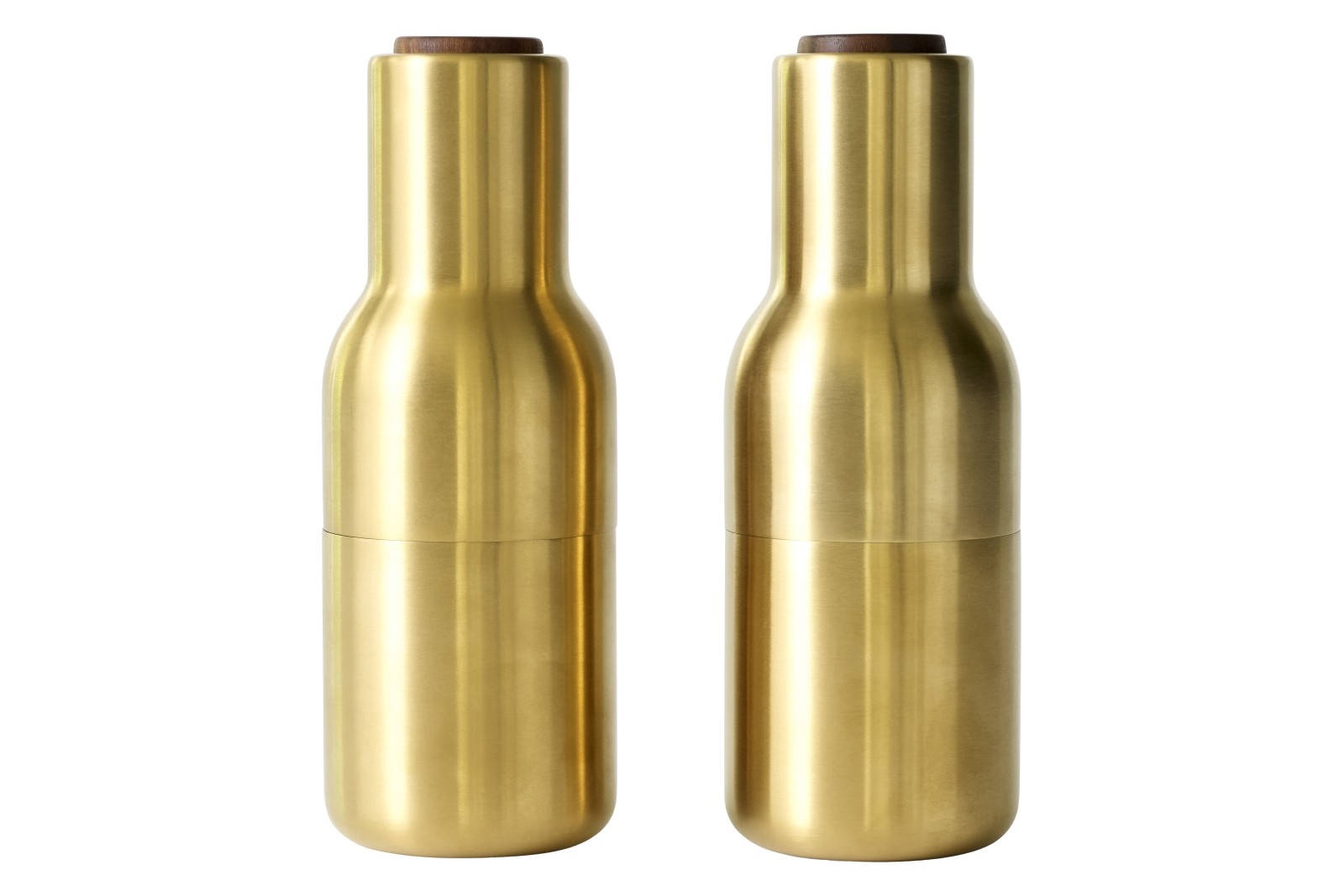 Norm Bottle Grinder - Set of 2 Brushed Brass