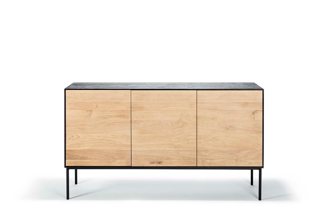 Oak Sideboard with 3 Doors Blackbird
