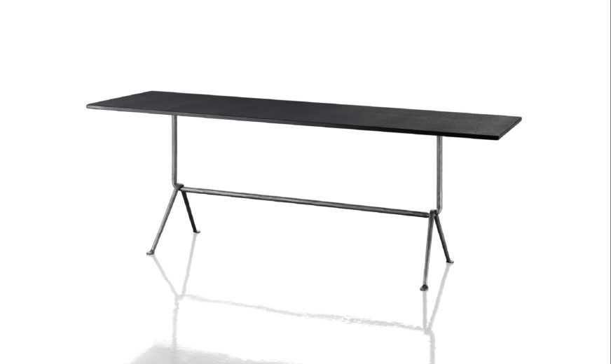 Officina Fratino Dining Table Ardesia Top, Grey Anthracite 5142 Frame,200cm