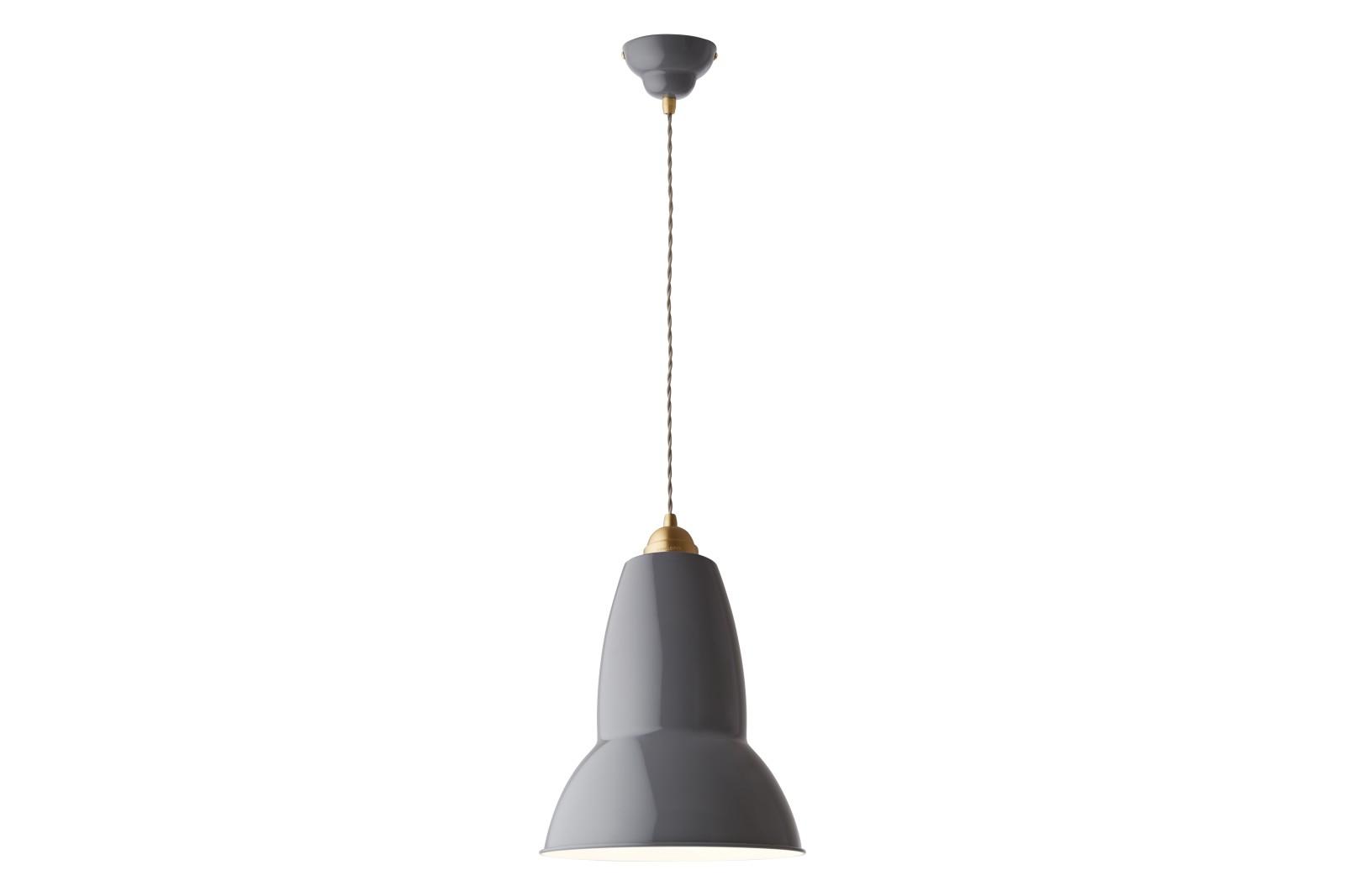 Original 1227 Brass Maxi Pendant Light Elephant Grey