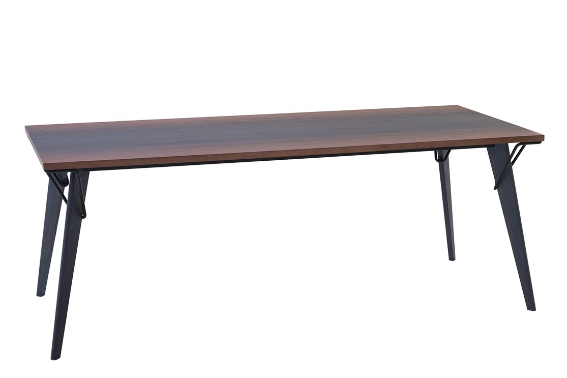 Overdyed Dining Table Denim Rust, Raw Black, 200
