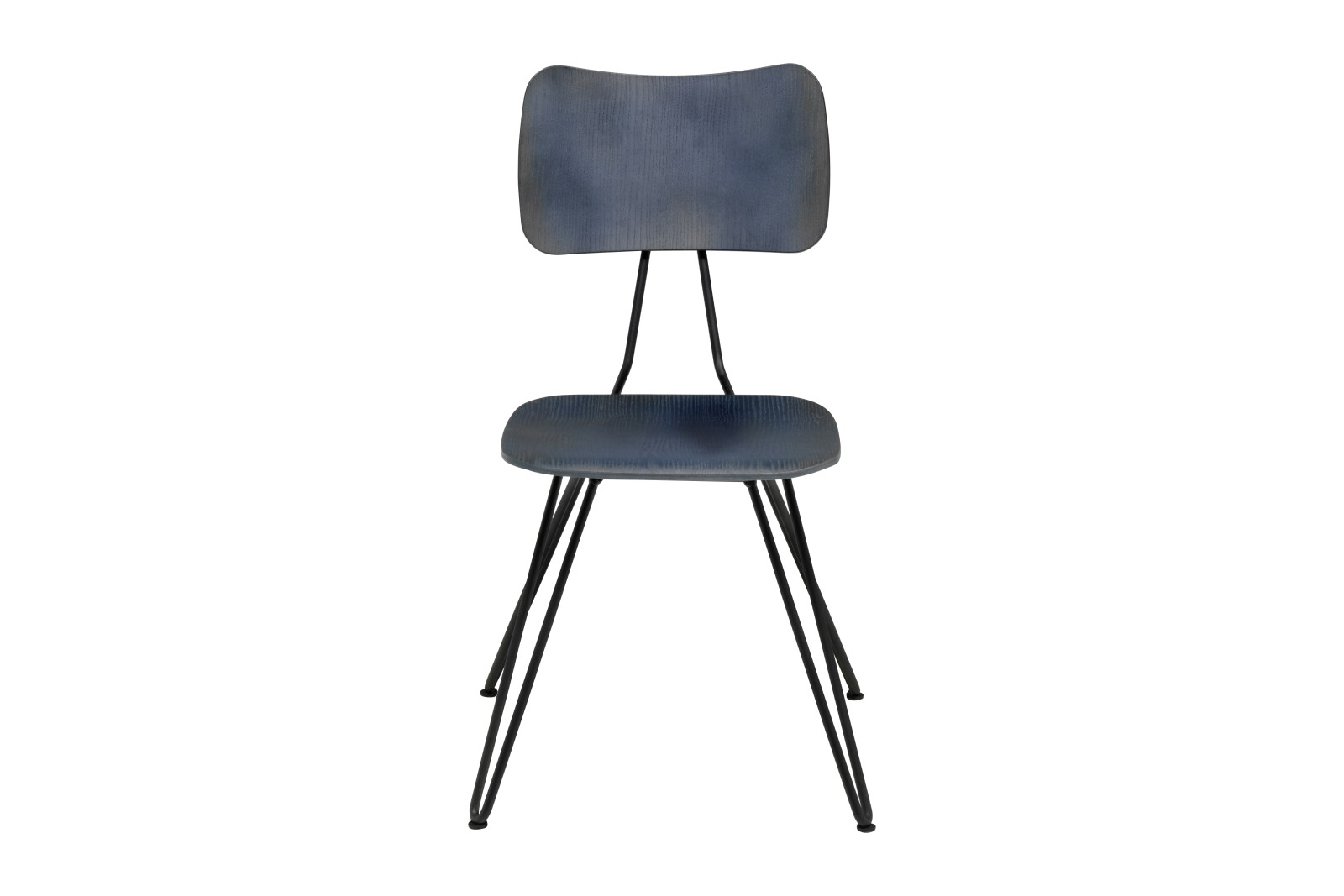 Overdyed Side Chair Indigo Blue, Raw Black