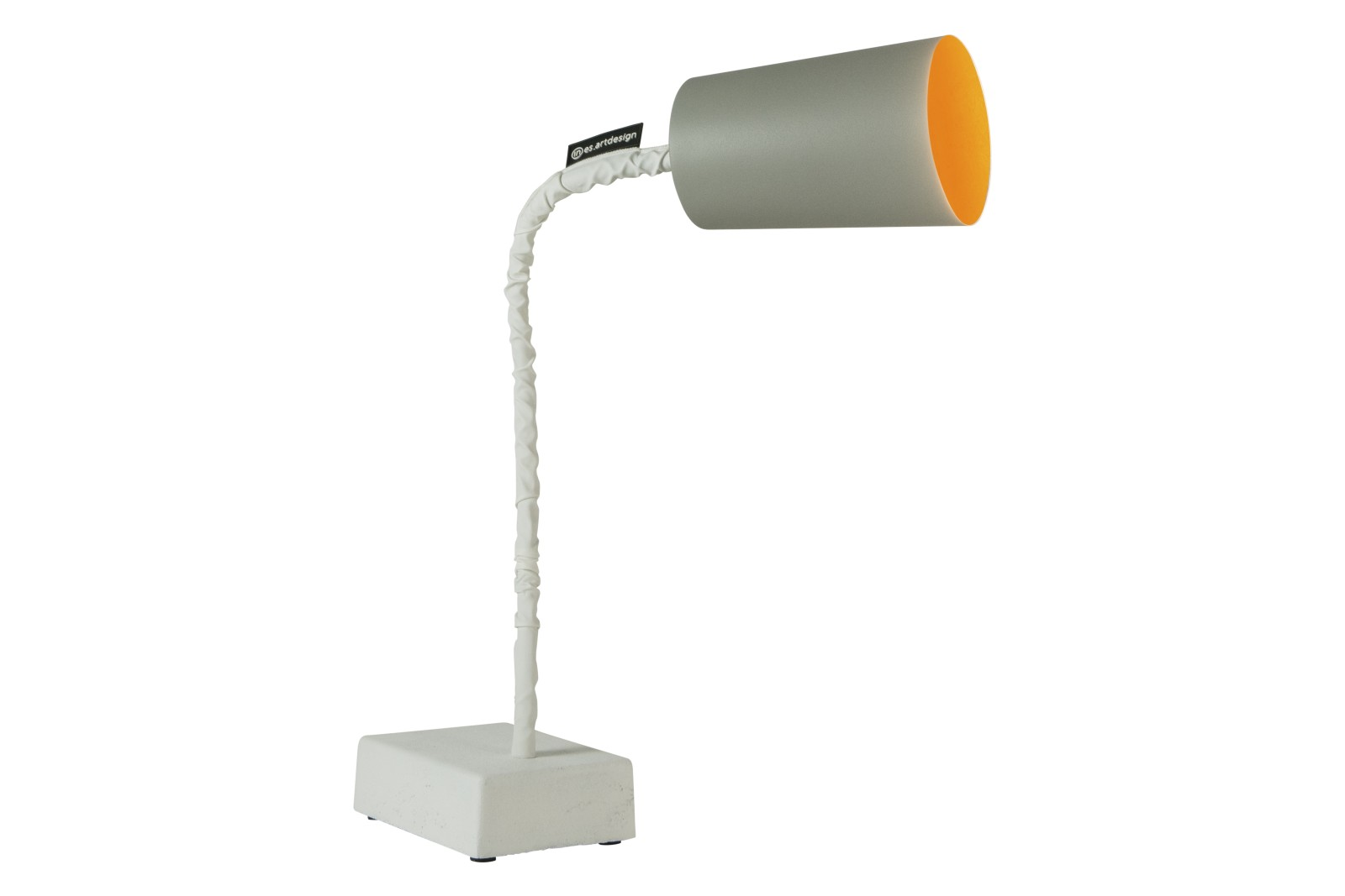 Paint T2 Table Lamp Cemento, Grey, Orange