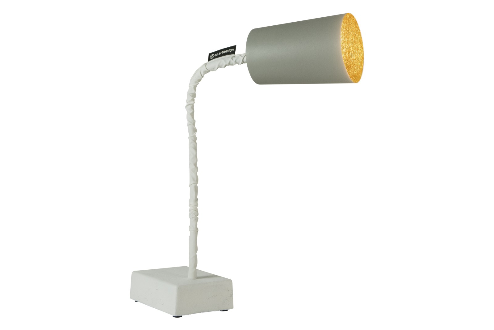 Paint T2 Table Lamp Cemento, Grey, Gold