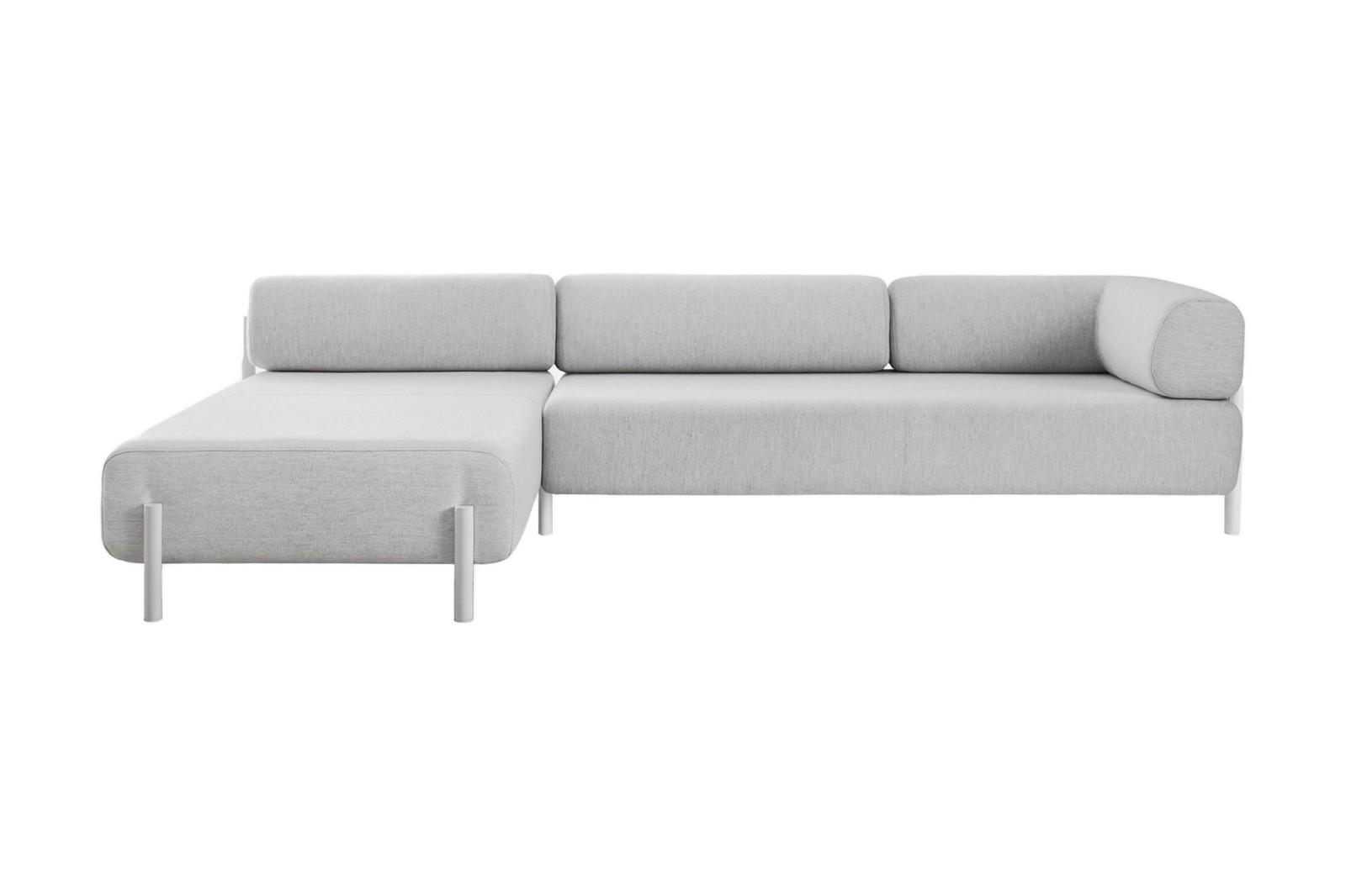 Palo Corner Sofa Left White