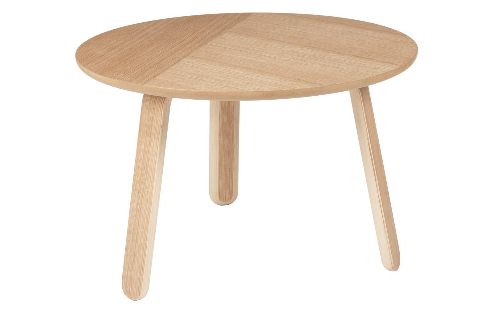 Paper Coffee Table Gubi Wood Oak, Medium Ø60