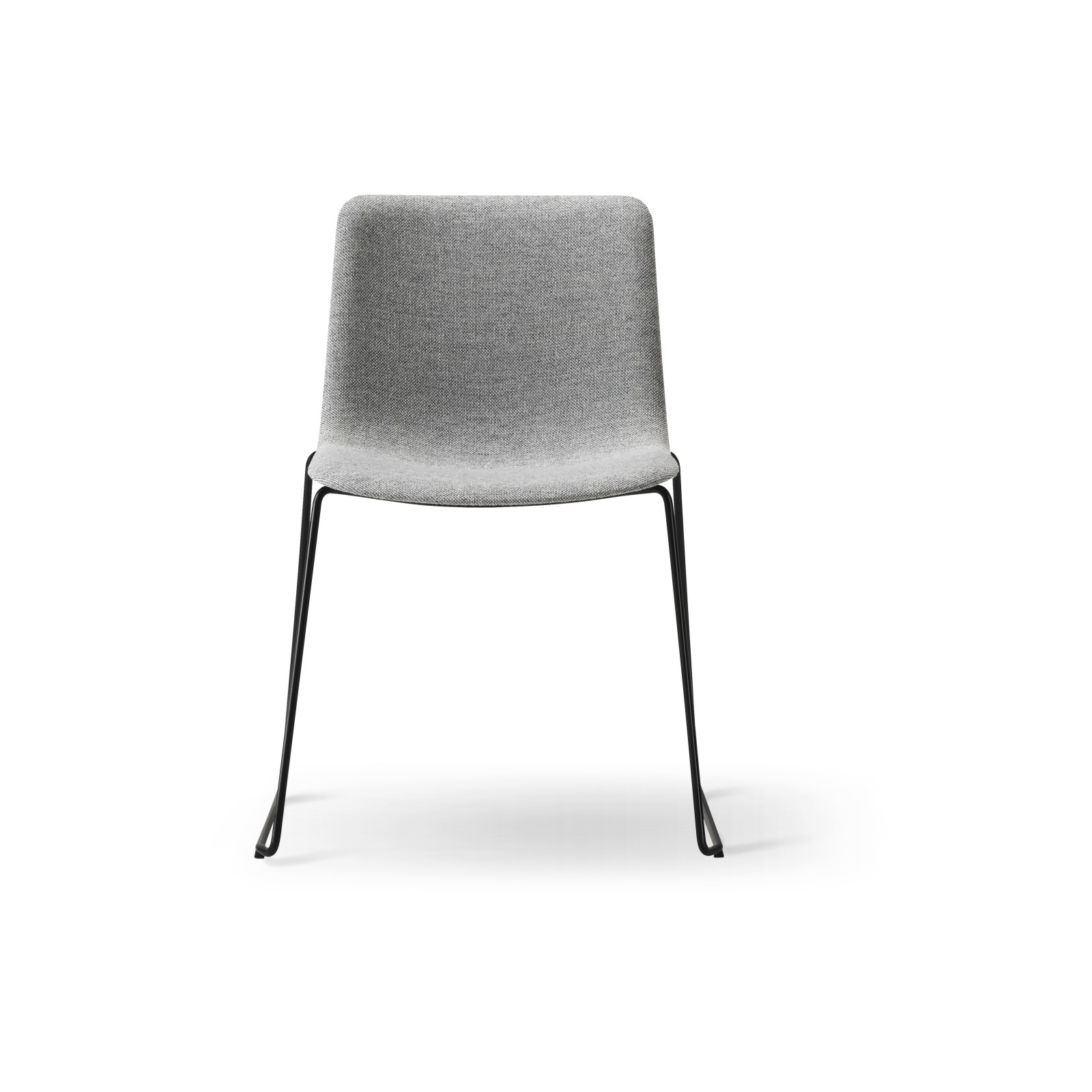 Pato Sledge Chair Fully Upholstered Chrome Steel, Remix 2 143