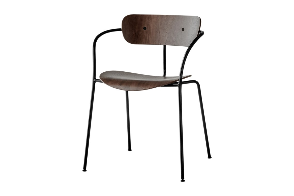 Pavilion AV2 Dining Chair Lacquered walnut