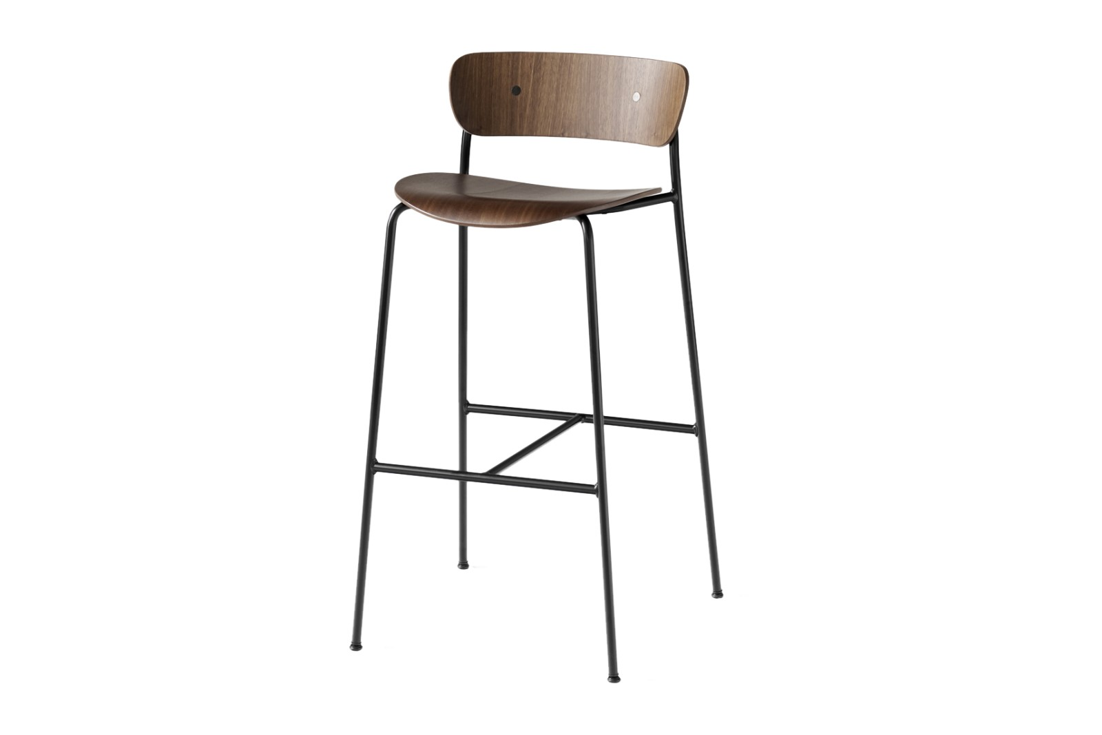 Pavilion AV9 Stool Lacquered walnut