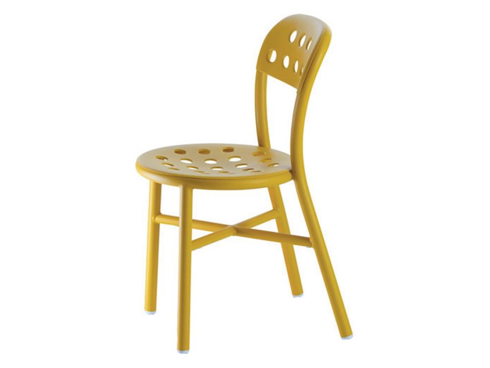 Pipe Chair - Stacking, Set of 2 Matt Mustard
